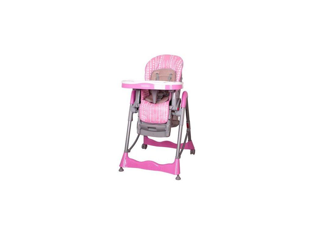 Detské stoličky na krmenie Coto Baby Mambo pink