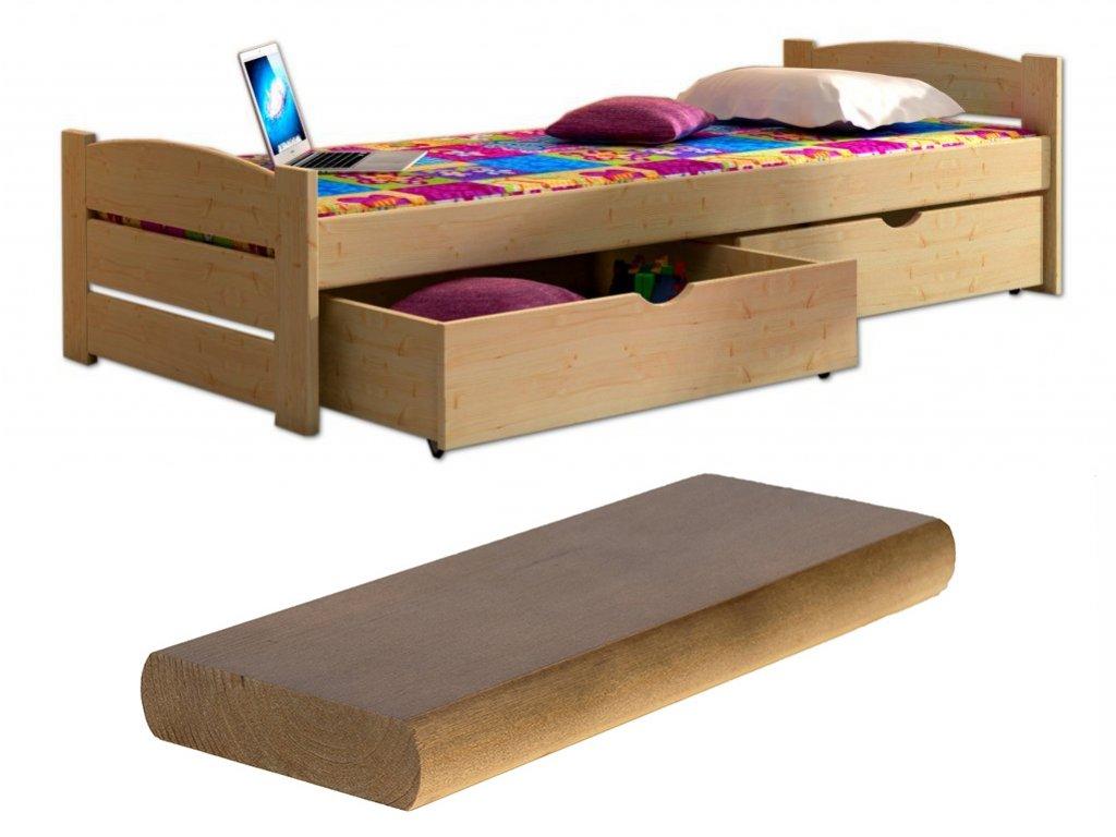 Detská posteľ Oľga 9 200x90 cm - viac farieb
