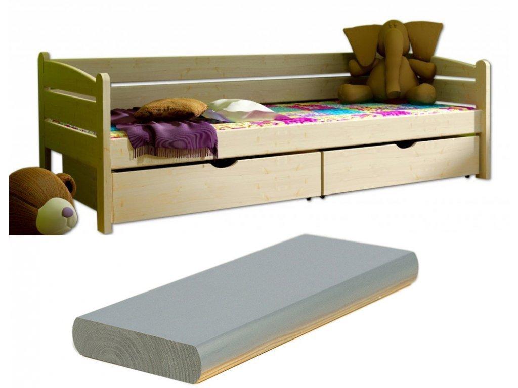 Detská posteľ Oľga 10 200x90 cm s úložným priestorom - viac farieb