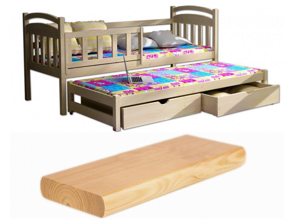 8b864f170954 Detská posteľ s prístelkou 200x90
