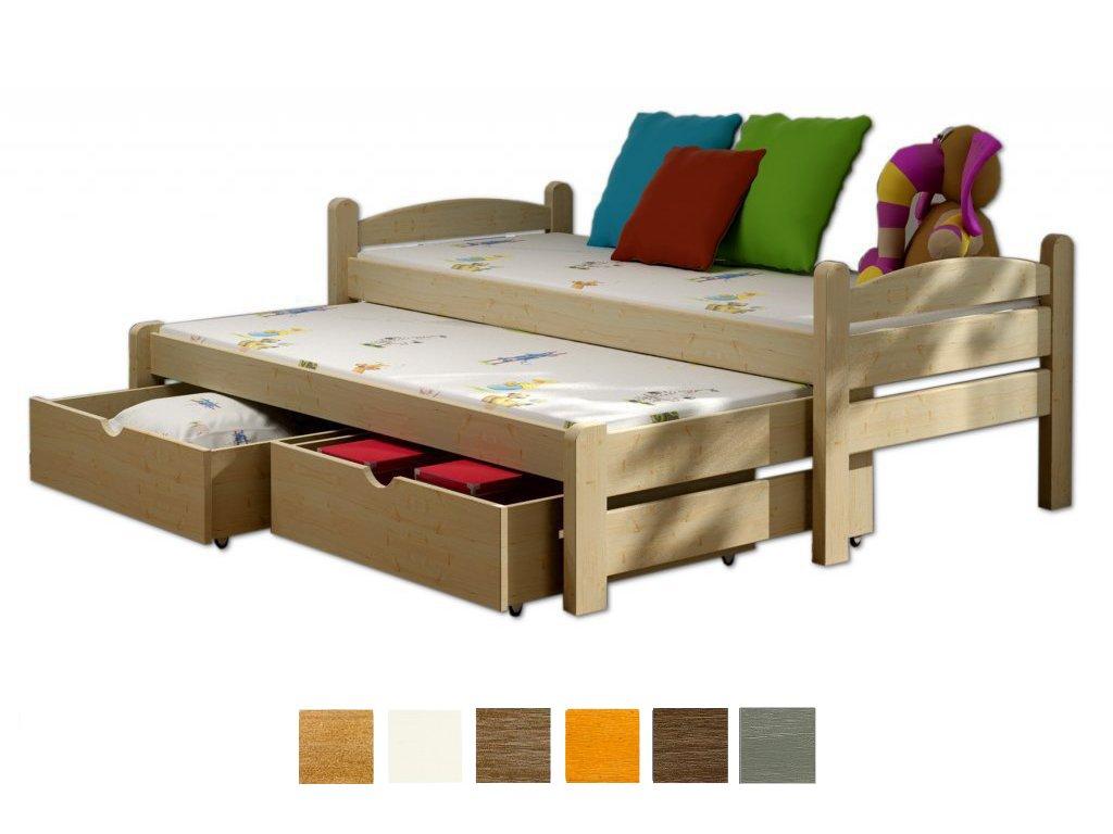 Detská posteľ Veronika 10 200x90 cm s prístelkou - viac farieb