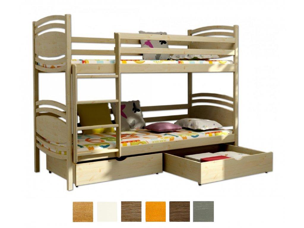 Poschodová posteľ Paula 1 200x90 - viac farieb