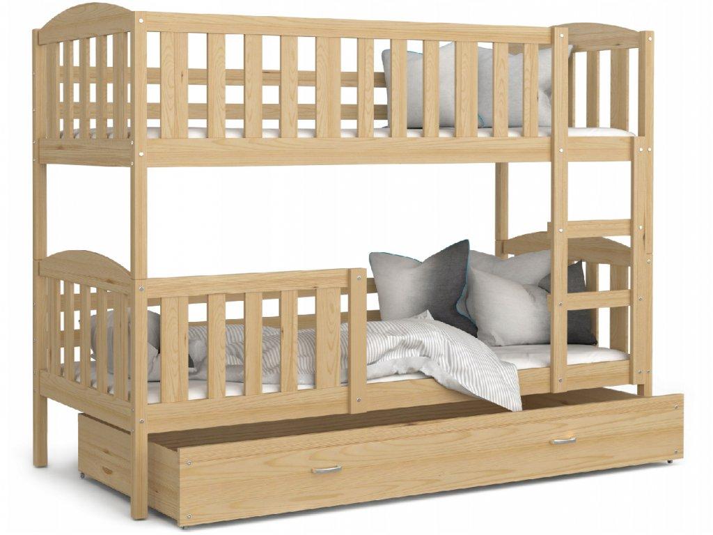 Jakub 5 190x80 Borovica dvojposchodová posteľ