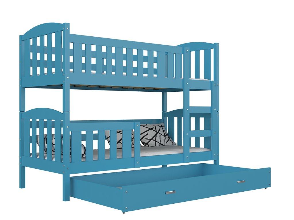 Jakub 5 190x80 Modrá poschodová posteľ color