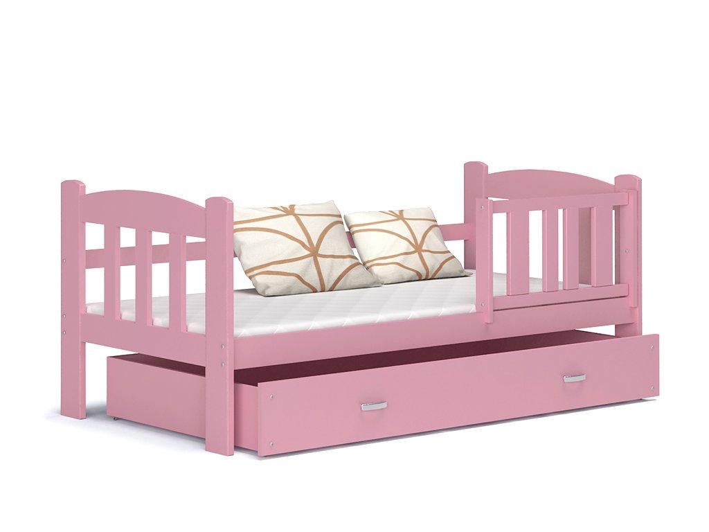 Tedi 160x70 Ružová detská posteľ