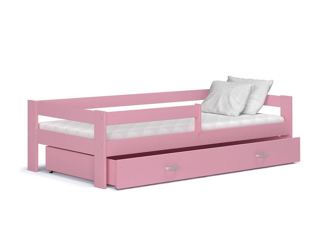 Hugo 190x80 Ružová detská posteľ Color