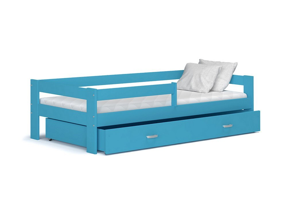 Hugo 190x80 Modrá detská posteľ Color