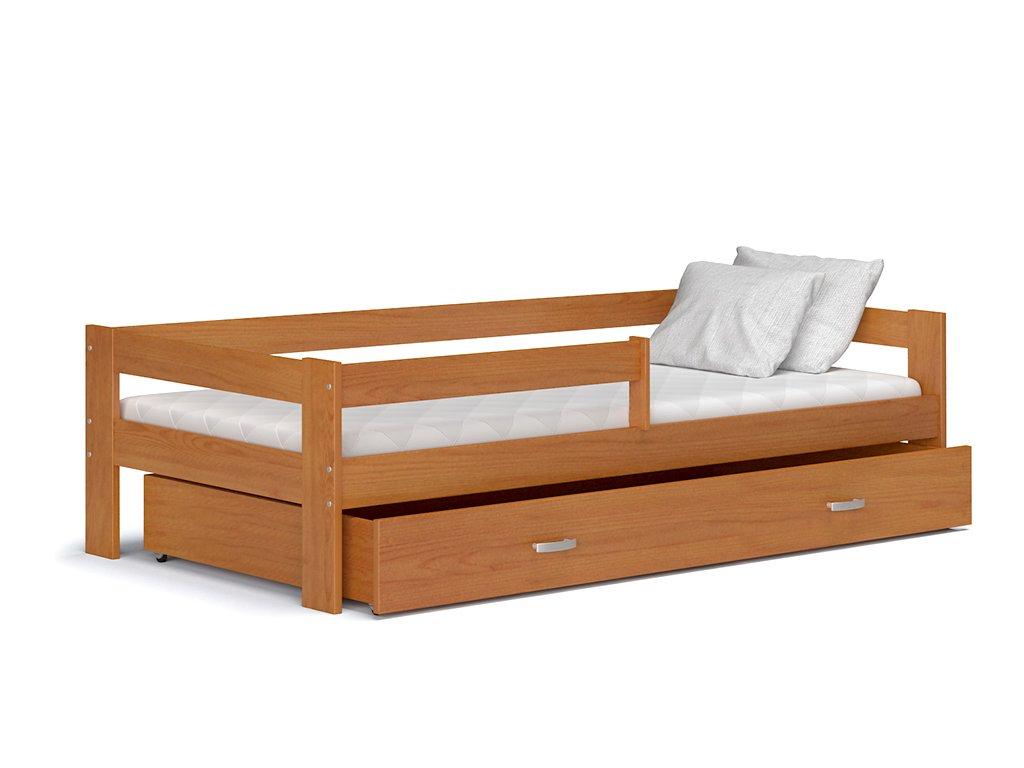 Detská posteľ so zábranou Hugo 160x80 Jelša