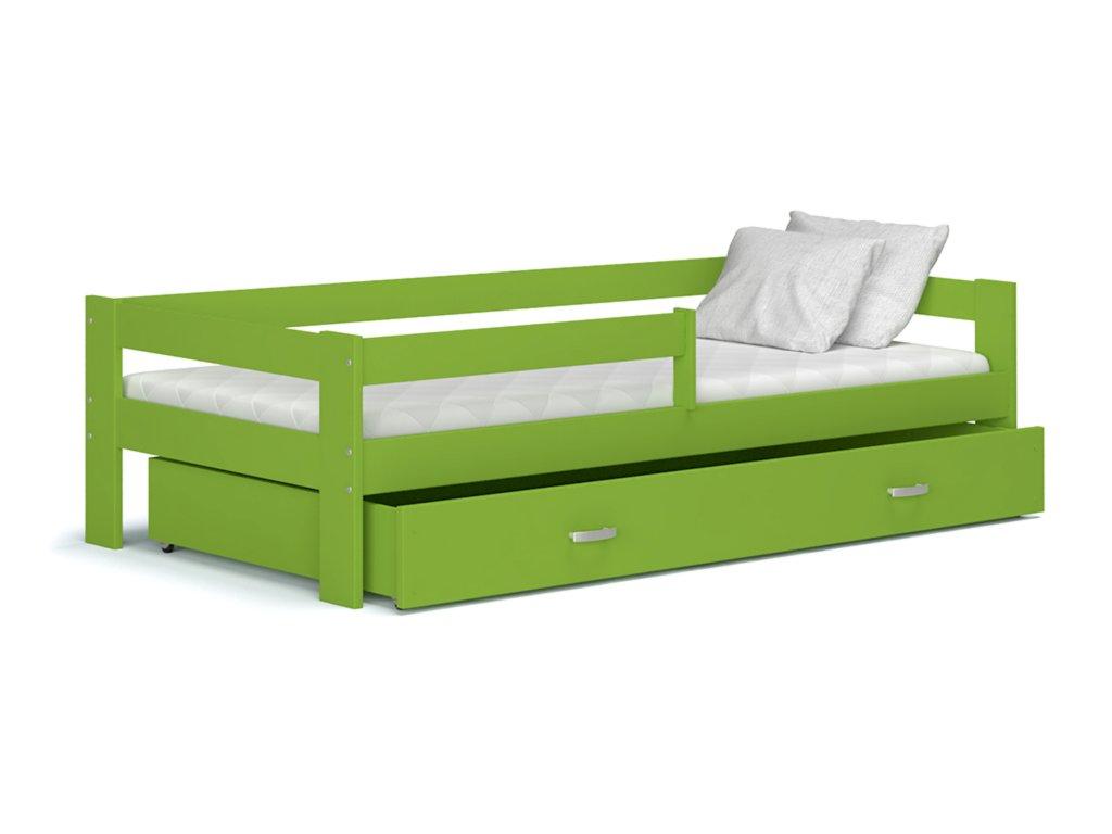 Hugo 160x80 Zelená detská posteľ Color