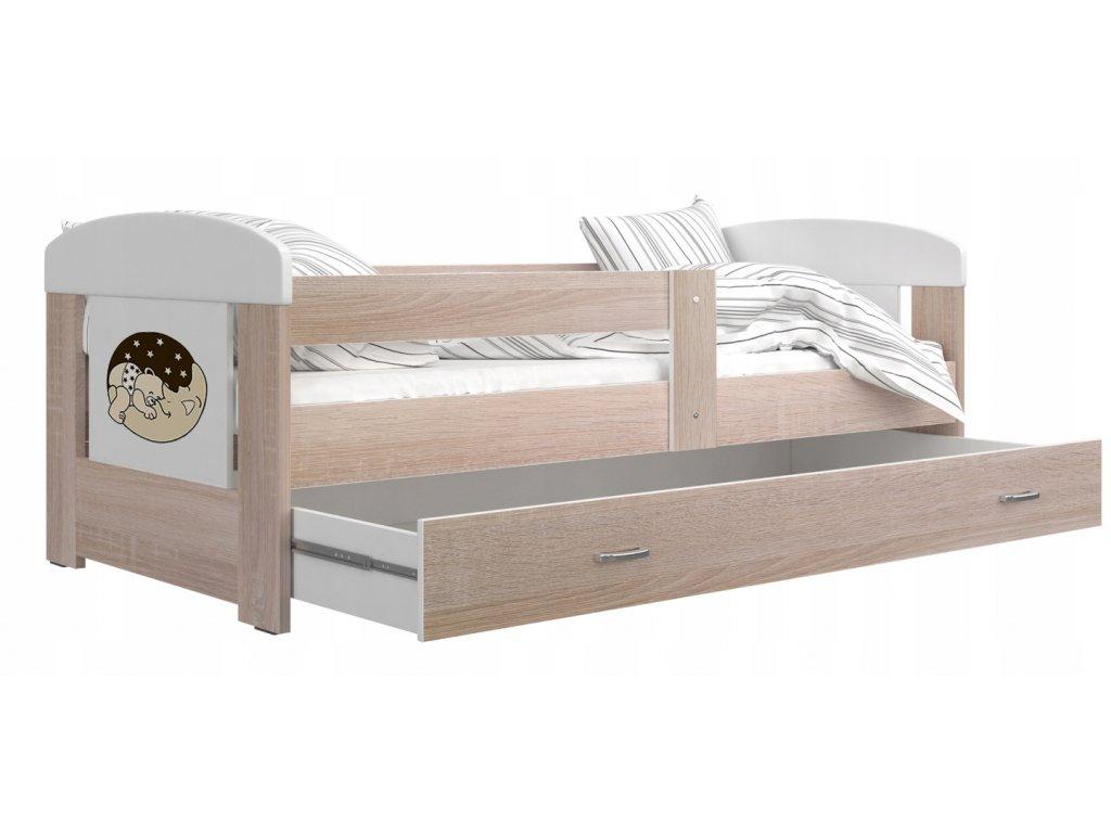 Filip 140x80 Macko na mesiaci č.4 detské postele