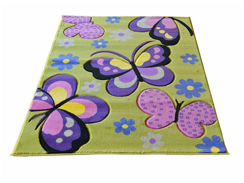 Detsky koberec 133x190 Green 17
