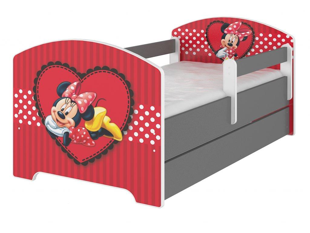 Disney Minnie srdce 140x70 detská posteľ