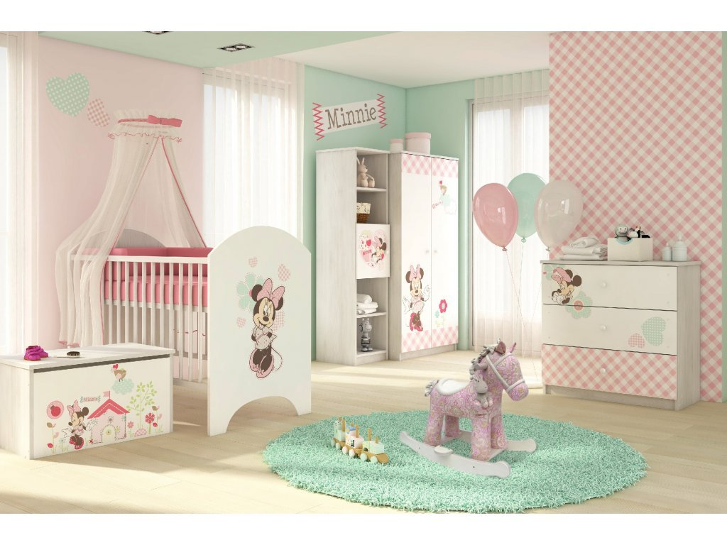 Detská izba pre bábätko Disney Minnie 3ks