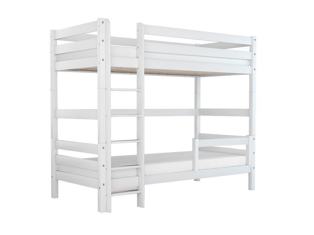 Poschodová posteľ Oliver 2 (200x90 cm) - biela