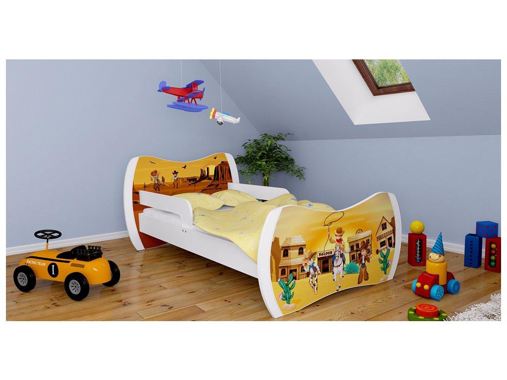 fb6669028c9a Detská postel Dream biela 180x90 rôzne motívy