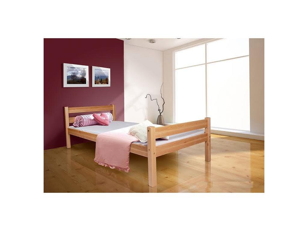 Jednoložková buková posteľ 200x90 Helga - výpredaj