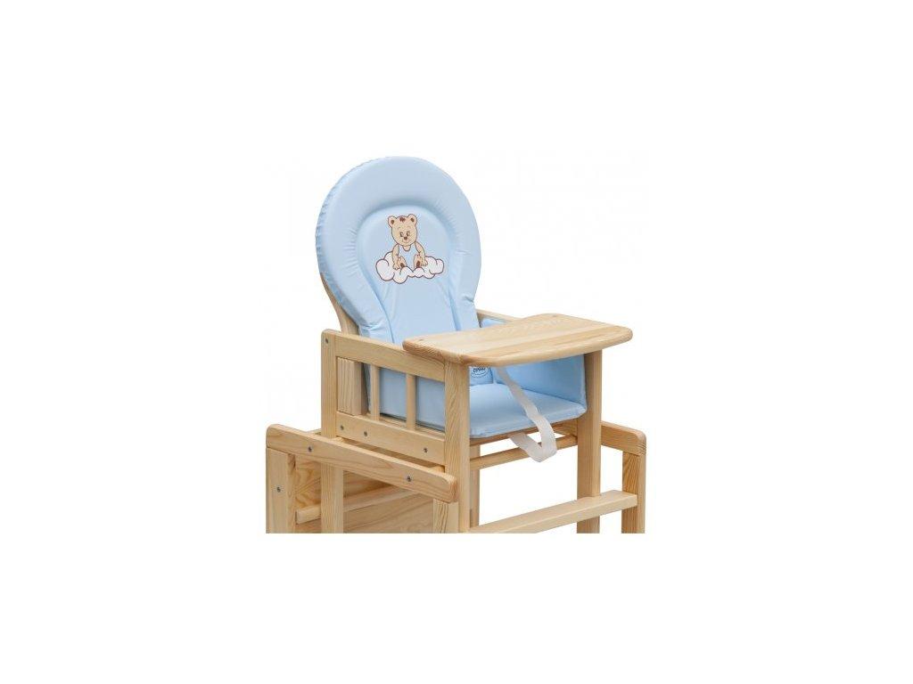 Pvc vložka do stoličky na kŕmenie modrá