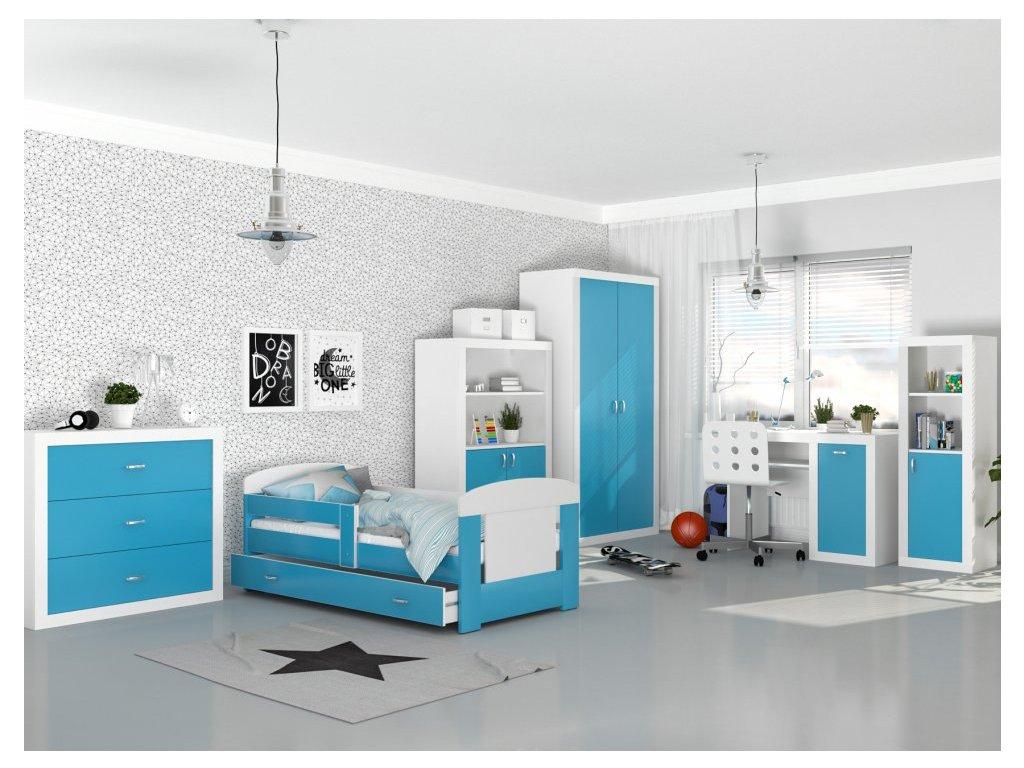 Detské izby Filip COLOR 160x80 - modré