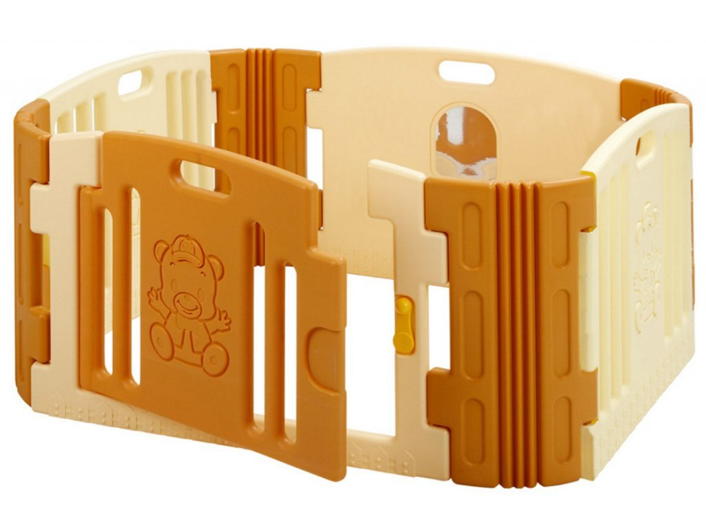 Plastová ohrádka pre deti Medvedík béžová