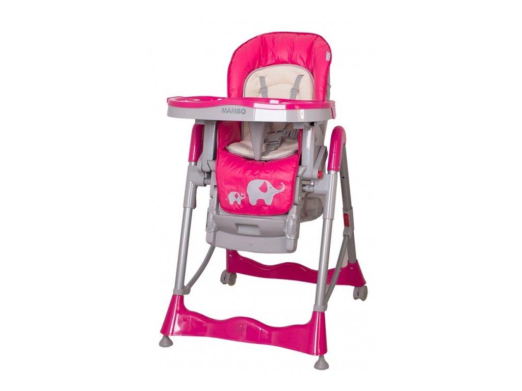 Stolička na jedenie pre deti Mambo Hot Pink