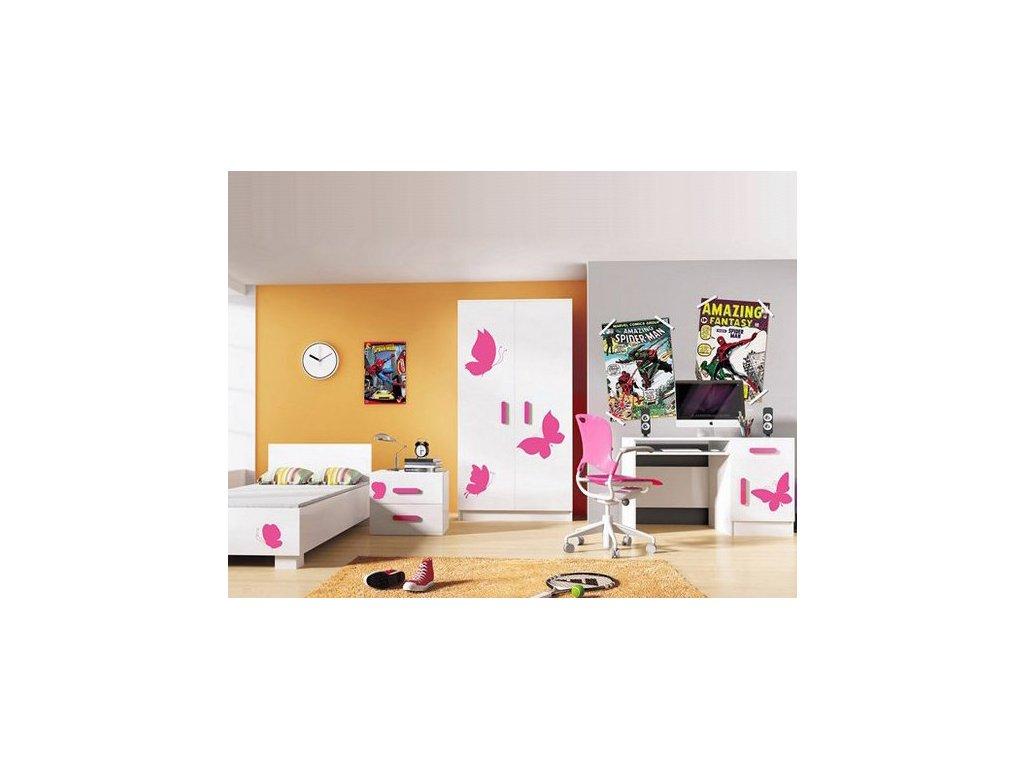 f9d2a5eaf143 Dievčenská izba LOOP motýliky - vzor 5
