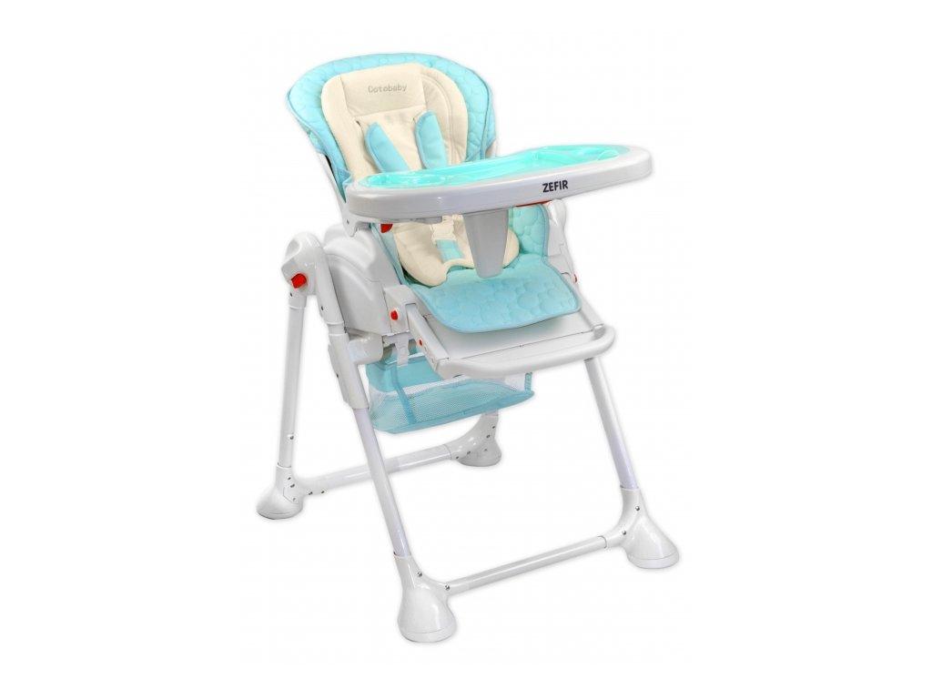 Jedálenská stolička pre deti Zefir Modrá