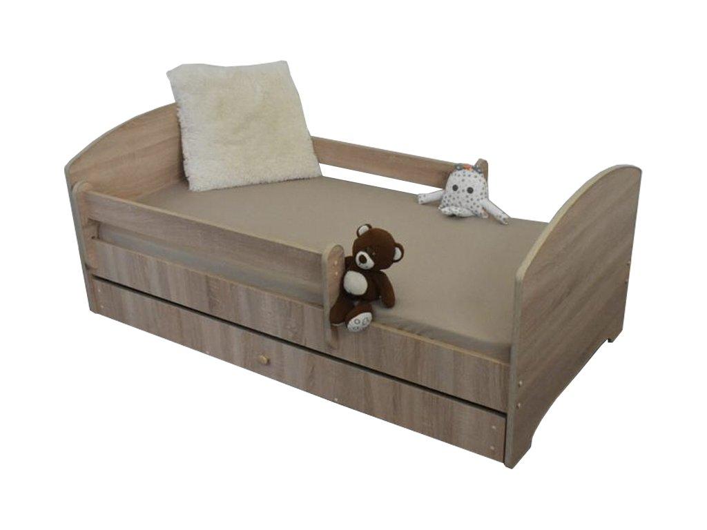Detská posteľ Oskar X 160x80 svetlý dub palermo