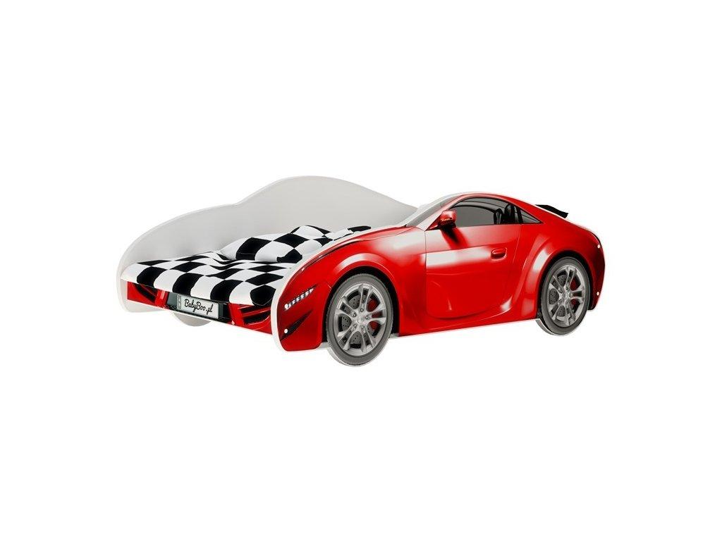 Posteľ auto S-Car červené 160x80
