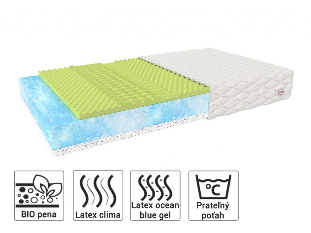 Mariana biopenový matrac s latexom 200x90