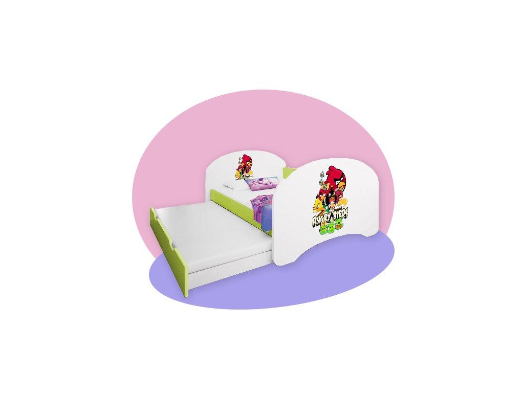 Hobby P2 detská posteľ s prístelkou lemon 160x80 - rozprávkové motívy