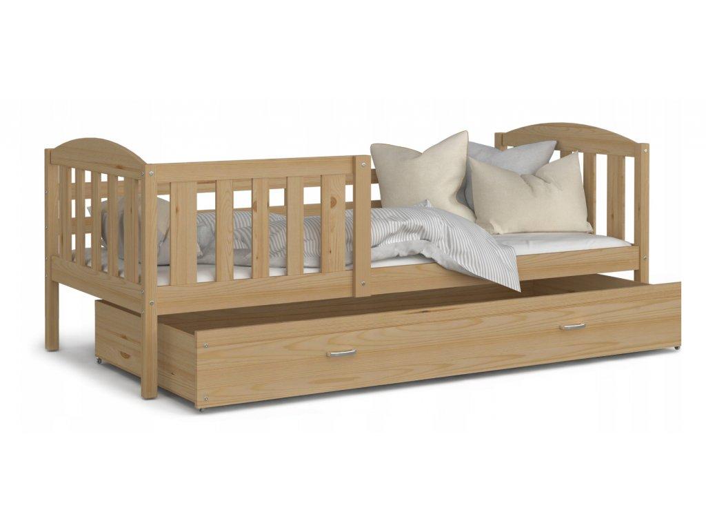 Kubus detská posteľ 190x80 borovica