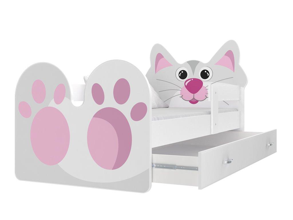 Mačička detská posteľ 160x80
