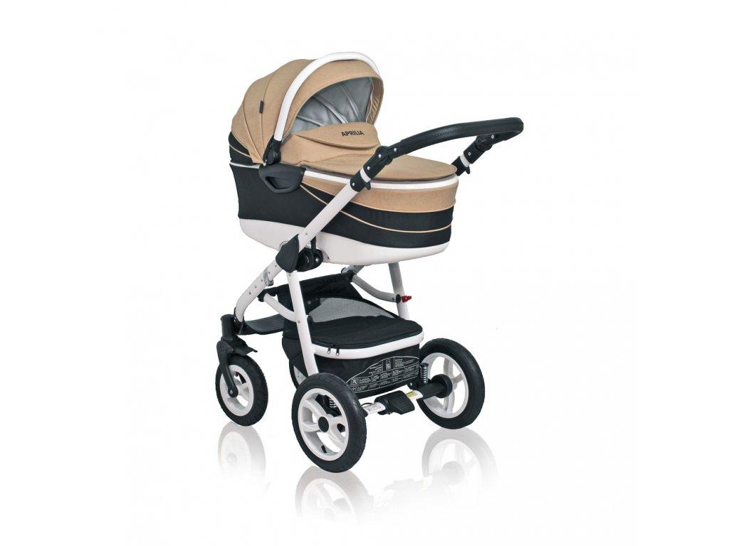 Výnimočný kombinovaný kočík Aprilia Coto Baby 2v1 - BEIGE LINEN