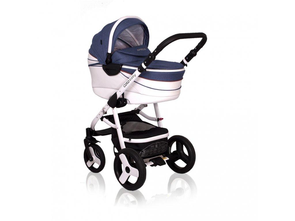 Kombinovaný kočík Aprilia Coto Baby 3v1 - JEANS ECO