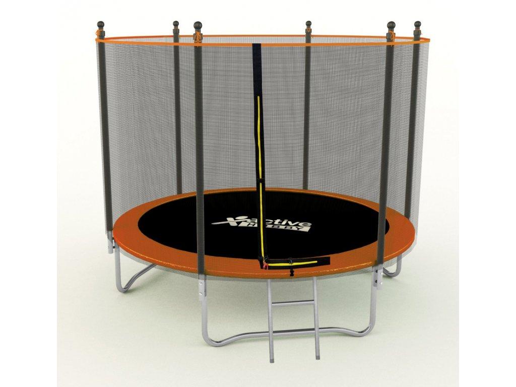 Skvelá Trampolína 183cm oranžová Active Hobby s ochrannou sieťou