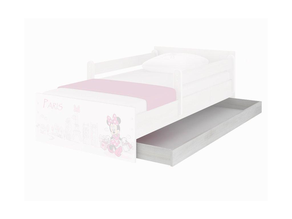 Úložný box pre detskú posteľ Max 160 - nórska borovica Cars3 Mcqueen