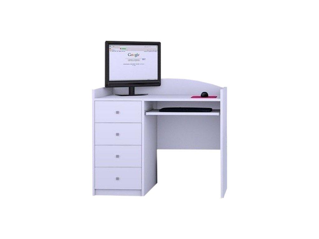 Písací stôl Mery biely B08 - viac variantov