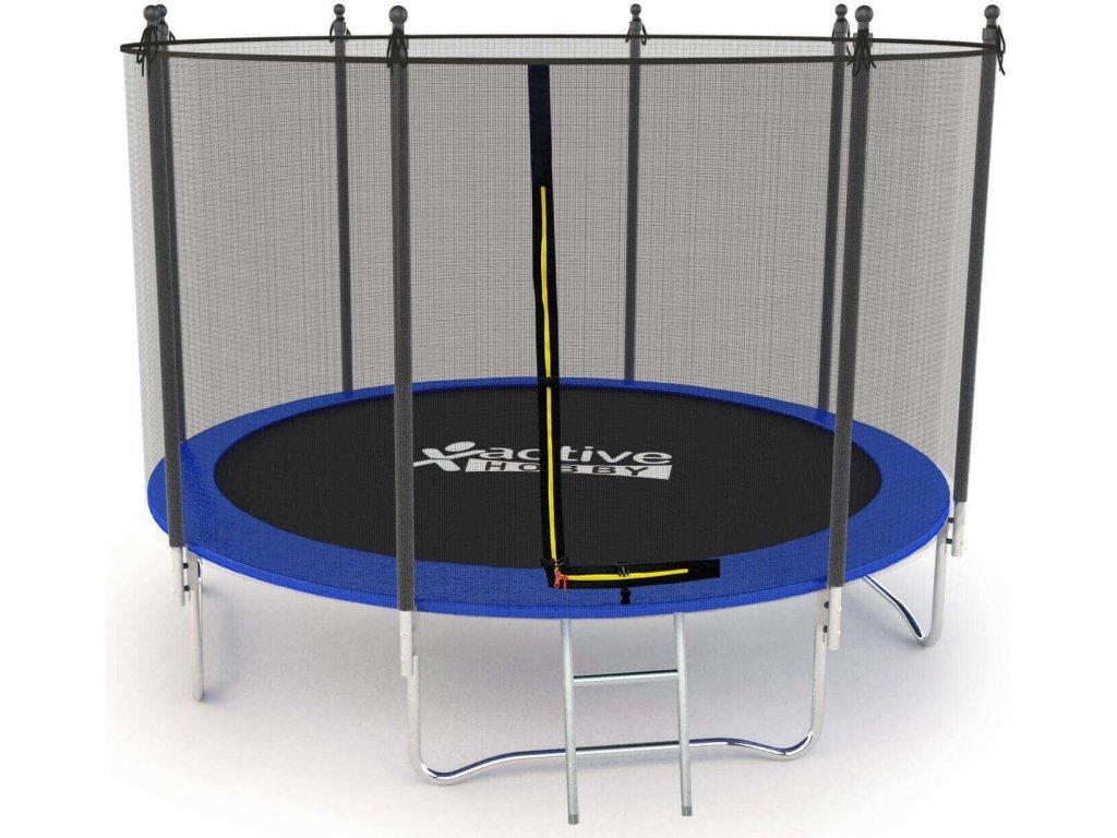 Trampolína Modrá Active Hobby 252cm s ochrannou sieťou a rebríkom