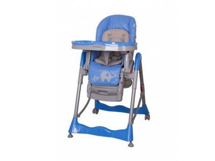 Polohovateľná stolička na kŕmenie Coto Baby Mambo blue