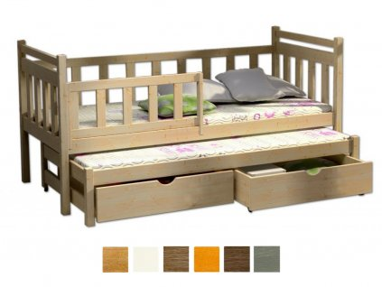 Detská posteľ Veronika 4 180x80 cm s prístelkou - viac farieb