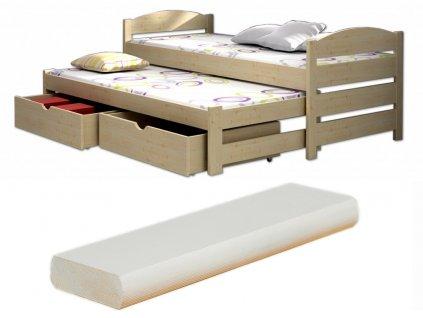 Detská posteľ Veronika 9 200x90 cm s prístelkou - viac farieb