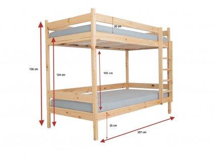 Poschodová posteľ Lp 002 200x90