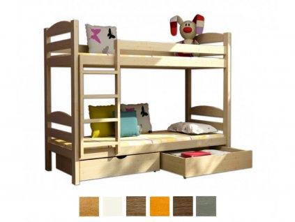 Poschodová posteľ Paula 4 200x90 cm - viac farieb
