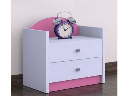 Nočný stolík Happy Pink SZNO 01 všetky motívy
