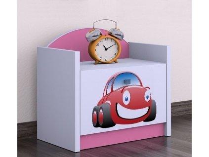 Nočný stolík Happy Pink SZNO 02 všetky motívy