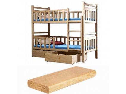Poschodová posteľ Lp 009 180x80
