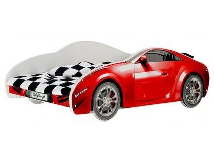 S-CAR postel auto červené