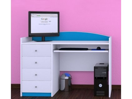Písací stôl Happy Modrý B03