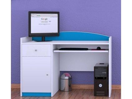 Písací stôl Happy Modrý B04