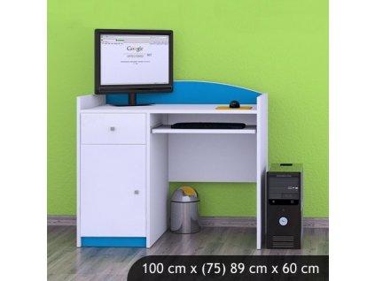 Písací stôl Happy Modrý B09